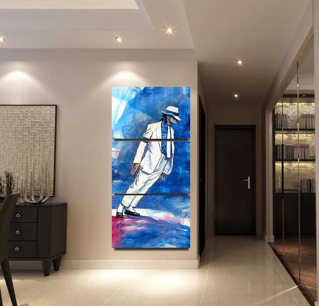 Moderne Leinwand Bilder Kunstwerk Malerei 3 Panel Michael Jackson  Wohnkultur Für Wohnzimmer Wand Kunst Gedruckt Poster Rahmen