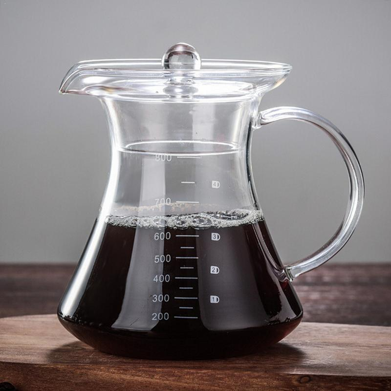 800ml High Borosilicate High Temperature Resistant Glass Coffee Pot Set Pour-Over Coffee Pot