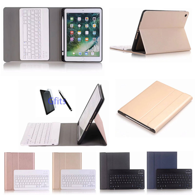 "Slim Detachable Bluetooth Keyboard Leather Case for iPad 5/6/2017/2018/Pro 9.7"" Tablet Stand Cover Funda"