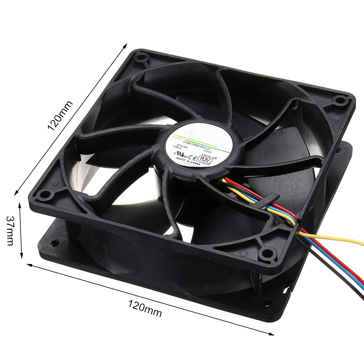 6500RPM Computer CPU Cooling Fan Replacement 4-pin Connector PWM  Temperature Control For Antminer Bitmain 12V/1 85A S7 S9 Black