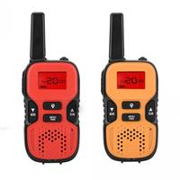 2pcs/Pair Mini 2 Way Radio kids Walkie talkie FRS GMRS PMR LCD Display 38 CTCSS 83 Channel DCS Subchannels Dual Channel Monitor