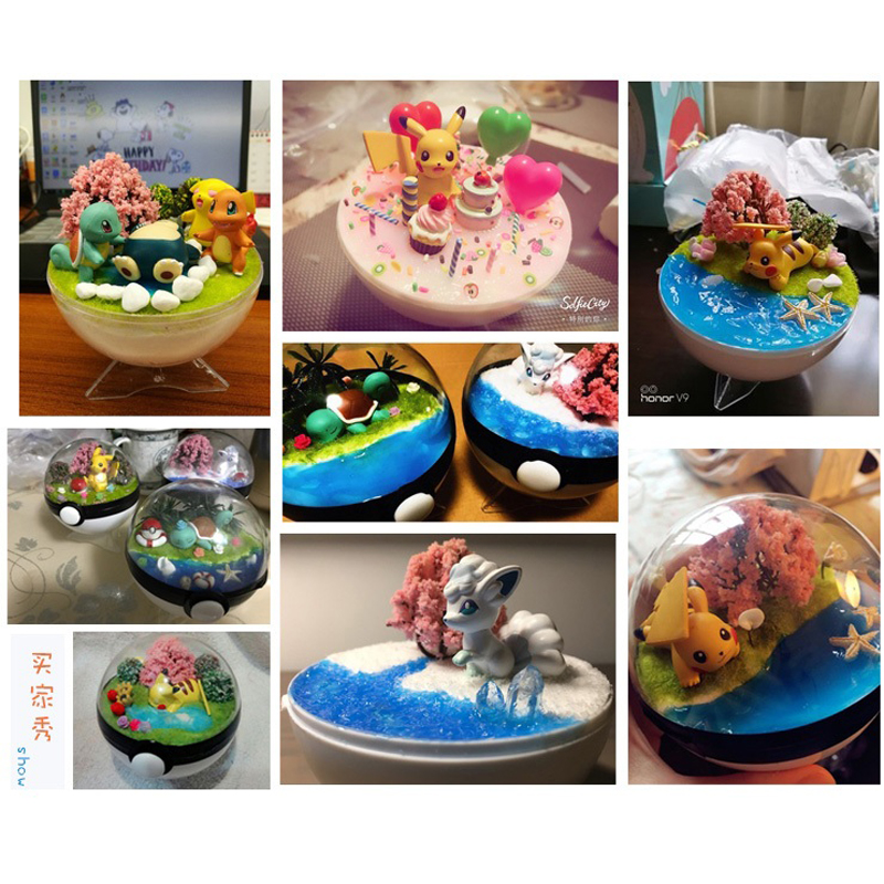 Mini artisanat Figurine Eif Pokeball Pot jardin ornement Miniature fée jardin décor bricolage cadeau d'anniversaire