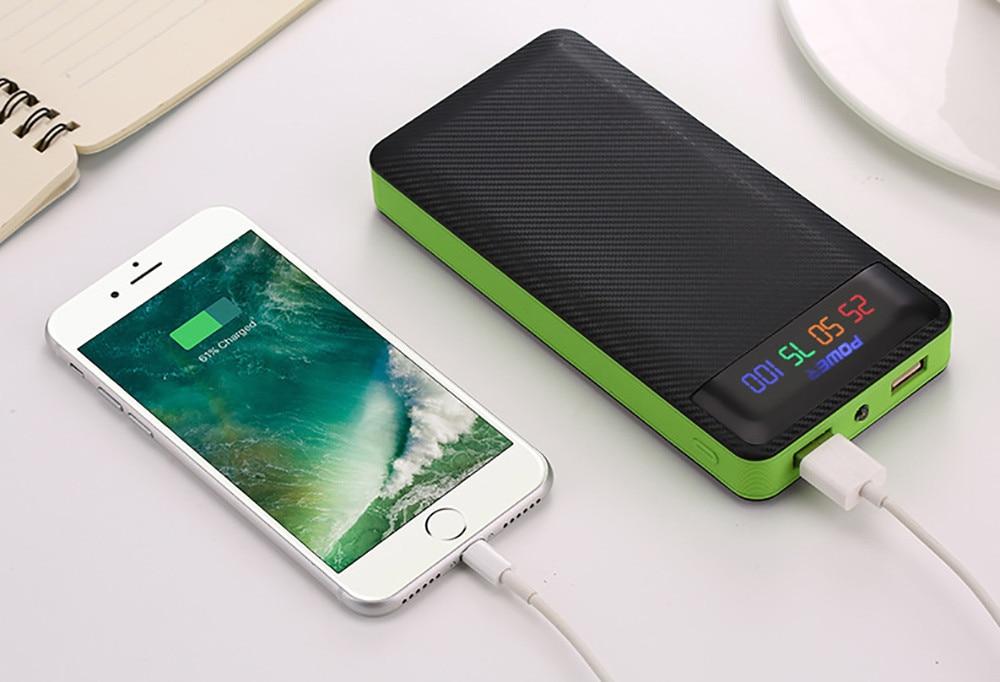 Power Bank 20000mAh Powerbank 2 USB External Battery Pack for IPhone 6 6s 7 8 10 IPad Samsung Xioami Huawei Sony LG HTC Nokia