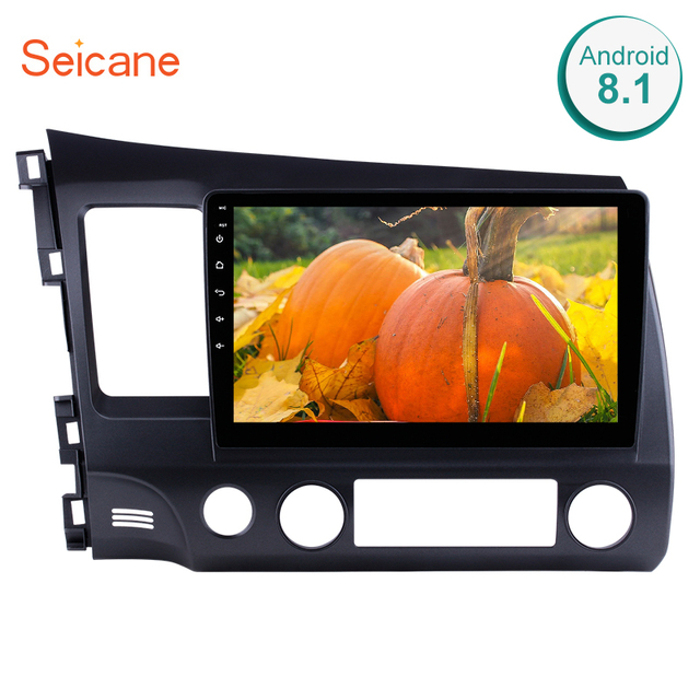 Seicane Android 6.0/7.1/8.1 10.1 inch Car Radio 2Din Quad-Core HD 1024*600 Tochscreen Multimedia Player For Honda Civic