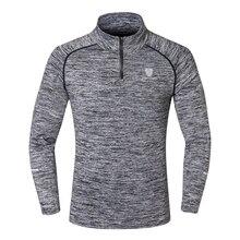 Мужские спортивные топы с длинными рукавами, спортивная одежда для мужчин, фитнес, быстросохнущая футболка, Открытый Бег горный туризм, одежда, тренировочная рубашка