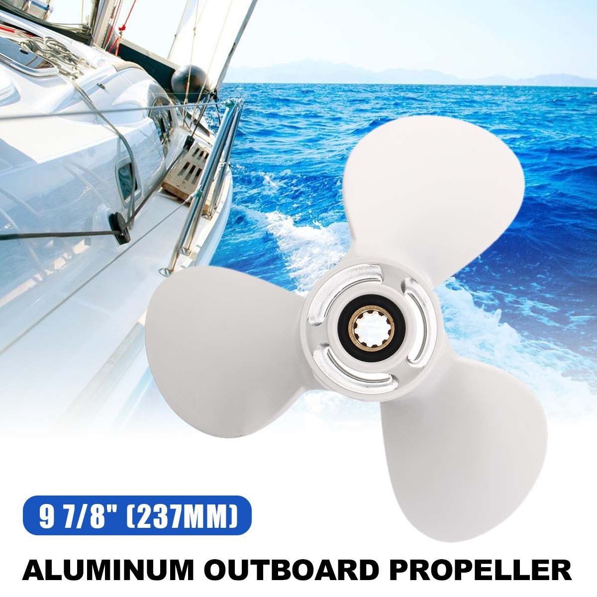 664-45947-01-EL Aluminum Boat Outboard Propeller For Yamaha 20-30HP 9 7//8x11 1//4