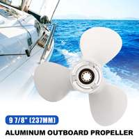 9 7/8x11 1/4 Boat Outboard Propeller 664 45947 01 EL Aluminium for Yamaha 20 30HP White R Rotation 3 Blades 10 Spline Tooth