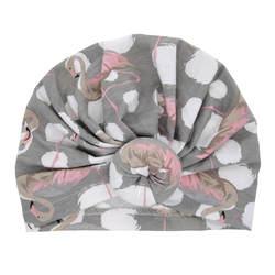 Детские для маленьких мальчиков для маленьких девочек новорожденных Цветочный принт мальчики девочки Кепки хлопок Мягкий теплая шапка