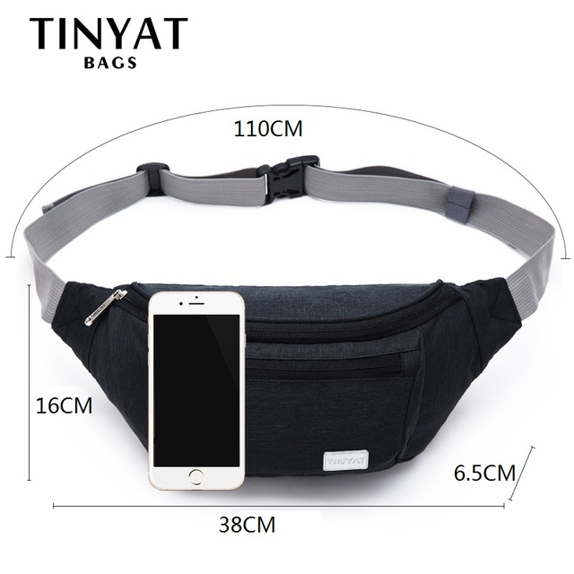 Unisex Waist bag Large Functional Casual Belt Pouch for Phone Money