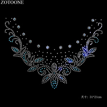 ZOTOONE Crystal Rhinestone Stickers Clear Strass HotFix Rhinestones Glass Applique for Wedding Dress Clothes Decoration Cyrkonie
