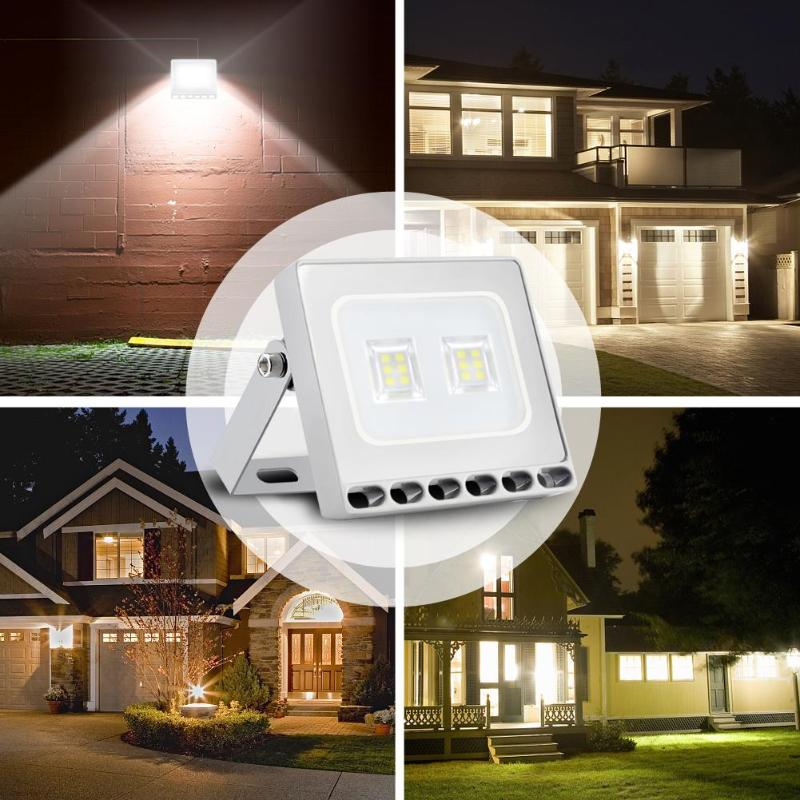 Lights & Lighting 10/20/30/50w Ultrathin Floodlight Ac 110v Ip65 Led Yard Garden Outdoor Spotlight Cw/ww Floodlight Consumers First