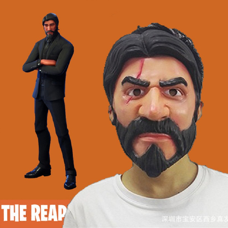 Fortniter The Reaper Mask Cosplay Fortnited Battle Royale John Wick Masks Adult Latex Helmet Halloween Party Props Dropshiping