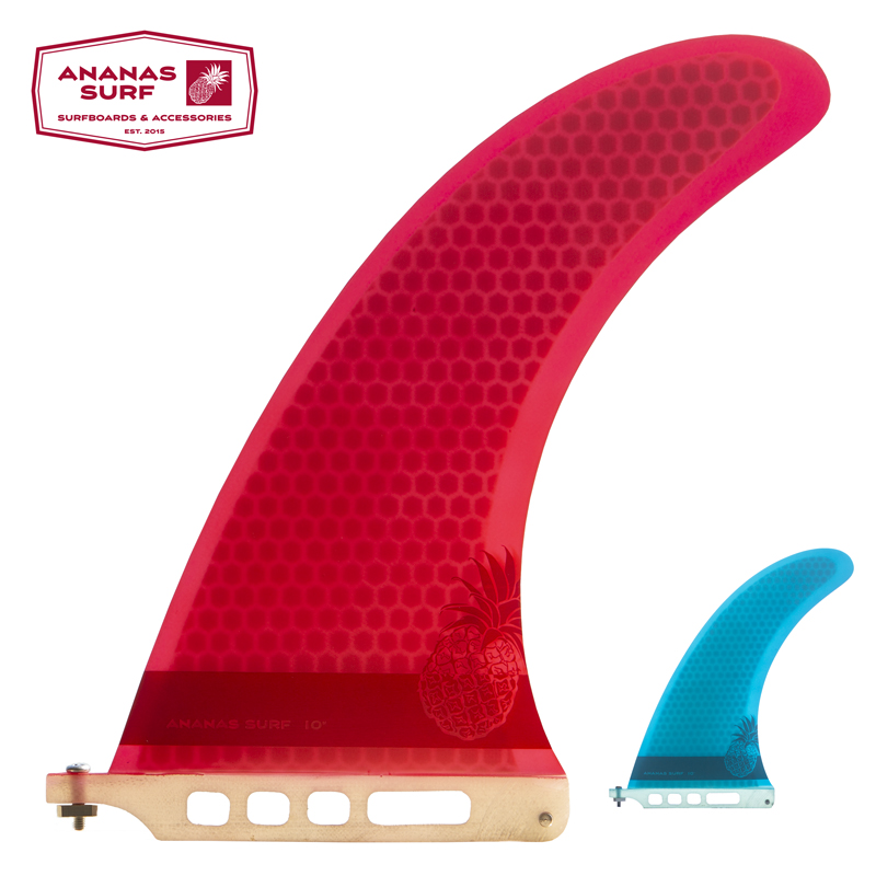 "Ananas Surf Surfboard Fin Center Single Box Fin 10"" Longboard 10 Inch Length Us Base Sup Accessories Noserider Style Good Reputation Over The World"