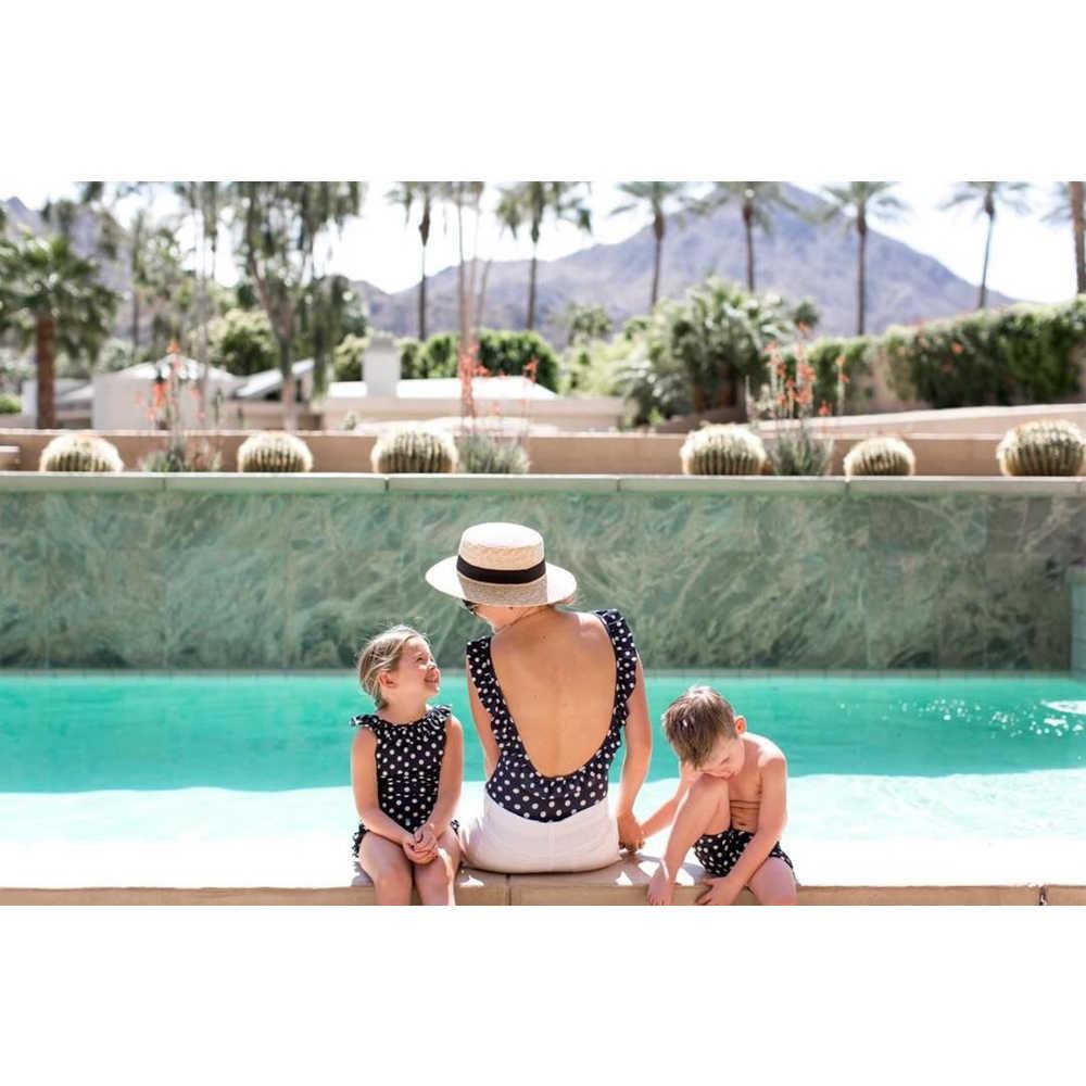 2fdaf2db99 ... Family Matching Bikini Mother Daughter Son Swimwear 2019 Summer Women  Baby Boy Girl One-piece ...