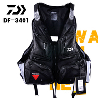 Send By EMS Daiwa DF 3401 Fishing Vest Flotation Vest Breathable Life Jacket Life Vest Multi pocket Fishing Clothing