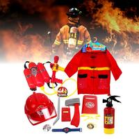 12 pcs Pretend Firefighters Play Toy Children's Toys Fire Caps Fire Clothes Water Gun Fire Extinguishing Tools Firefighters Suit