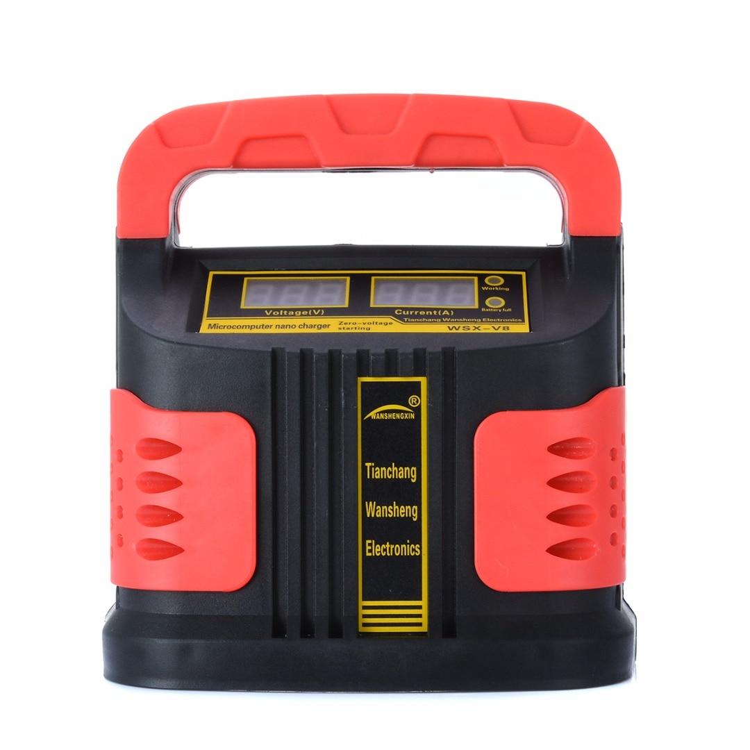 Treyues 1 pc 350 W 14A charge automatique ajuster LCD chargeur de batterie 12 V-24 V voiture saut démarreur Portable