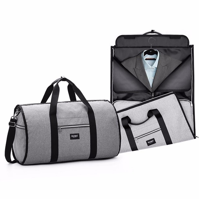 Travel Garment Duffle Bag Men Weekend Bag Suitcase Suit Business Travel Organizer Foldable Shoulder Bag Trip Luggage Pack 2 In 1