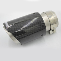 Carbon Fiber Exhaust Tips 63mm Inlet 89mm Outlet Car Muffler Pipe Matte Black