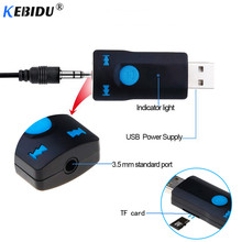 kebidu Bluetooth Receiver AUX 3.5mm USB Wireless Adapter Dongle Audio for Calling for Car Speaker Receptor Bluetooth Connector(China)