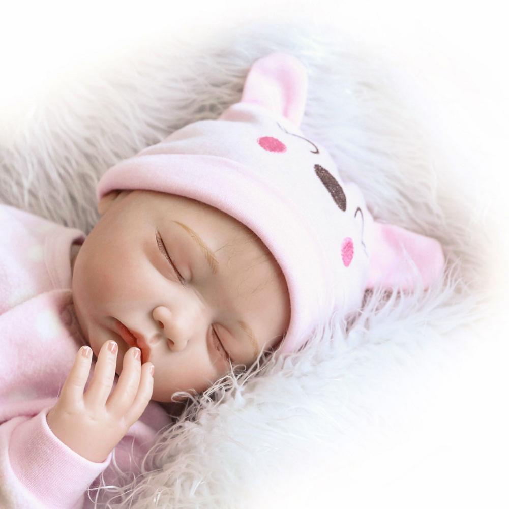 À la mode belle maison de jeu jouet Simulation bébé poupée avec des vêtements rose taille 22 pouces à l'étranger entrepôt livraison gratuite