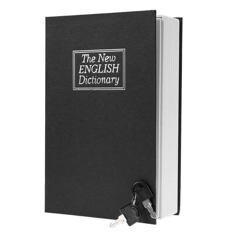 English Dictionary Shape Money Saving Box Safe Book Coin Piggy Bank with Key Cash Coins Saving Boxes Lock-up Storage Box