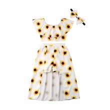 b3c93498a 2019 Summer Girls 3PCs Outfits Set Sunflower Headband Collar Skitts Tops  Pants Newborn Infant Clothes Skirt SetUS $5.30 - 5.93