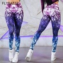Women Tights High Waist Run Yoga Pants Tummy Control Workout Running 4 Way Stretch Leggings Print Sportswear