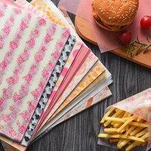 50 шт. восковая смазка бумажная пищевая одноразовая пищевая упаковка жиростойкая Кухня Мыло Мясник упаковочная бумага s новая горячая