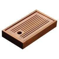 HOT SALE Bamboo Tea Tray Solid Bamboo Tea Board Kung Fu Tea Tools For Cup Teapot Crafts Tray Chinese Culture Tea Set|Tea Trays| |  -