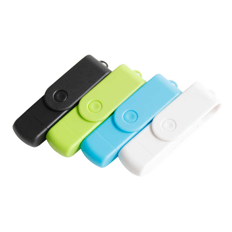 SR New Rotating 4 Colors OTG Card Reader 2 in 1 Android Phone TF Micro SD Card reader For Laptop PC