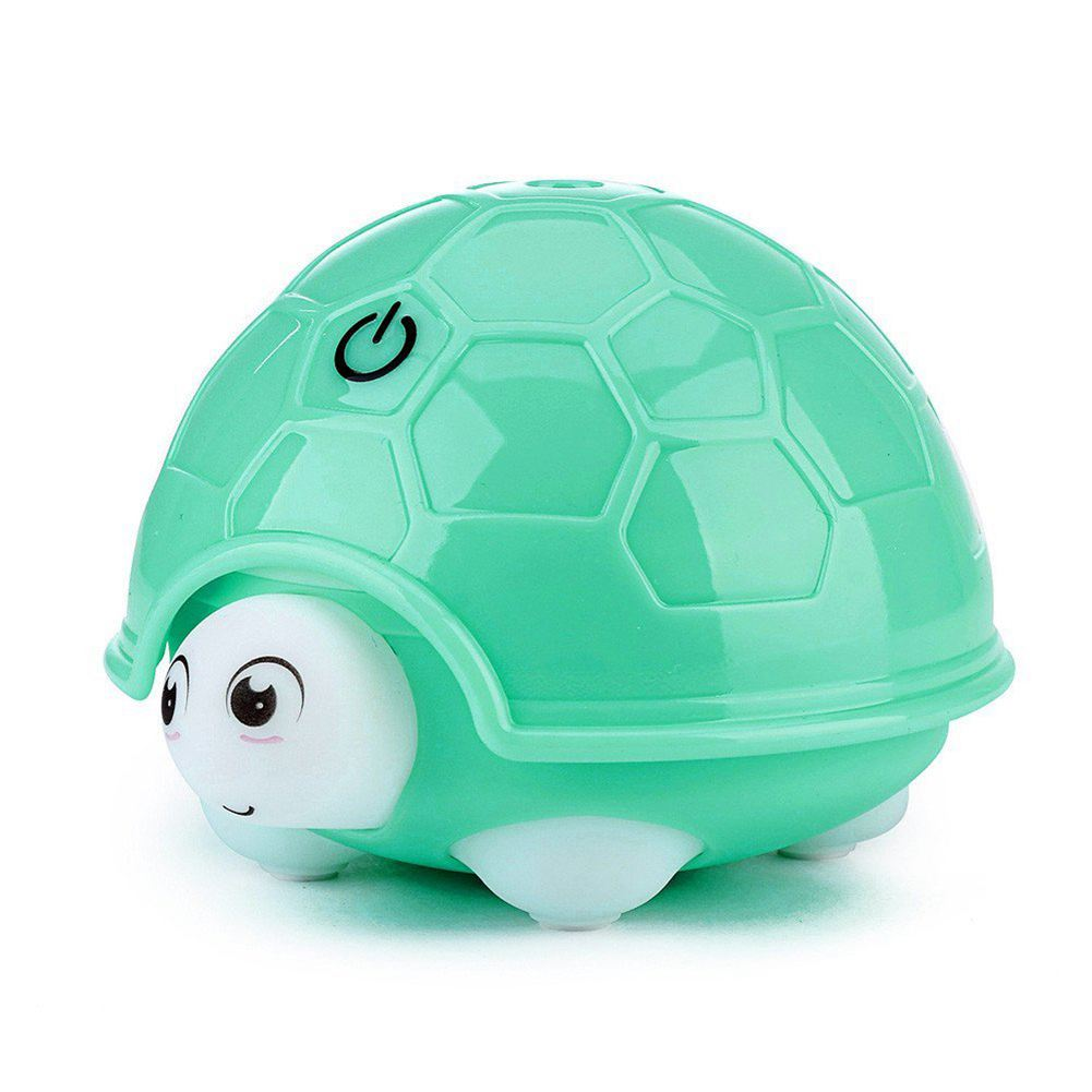 EAS-Cute Turtle Humidifier USB Air Diffuser Purifier Atomizer Cartoon Colorful Light (Green)
