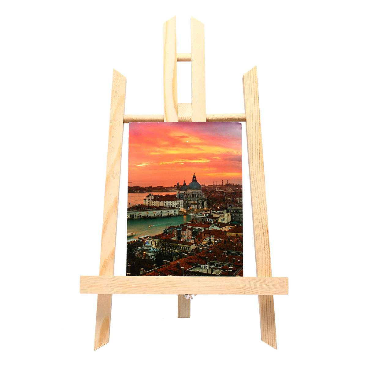Durable Wooden Easels Display Tripod Artist Painting Stand Rack Wedding Table Card Stand Holder For Party Decoration 155X90mm