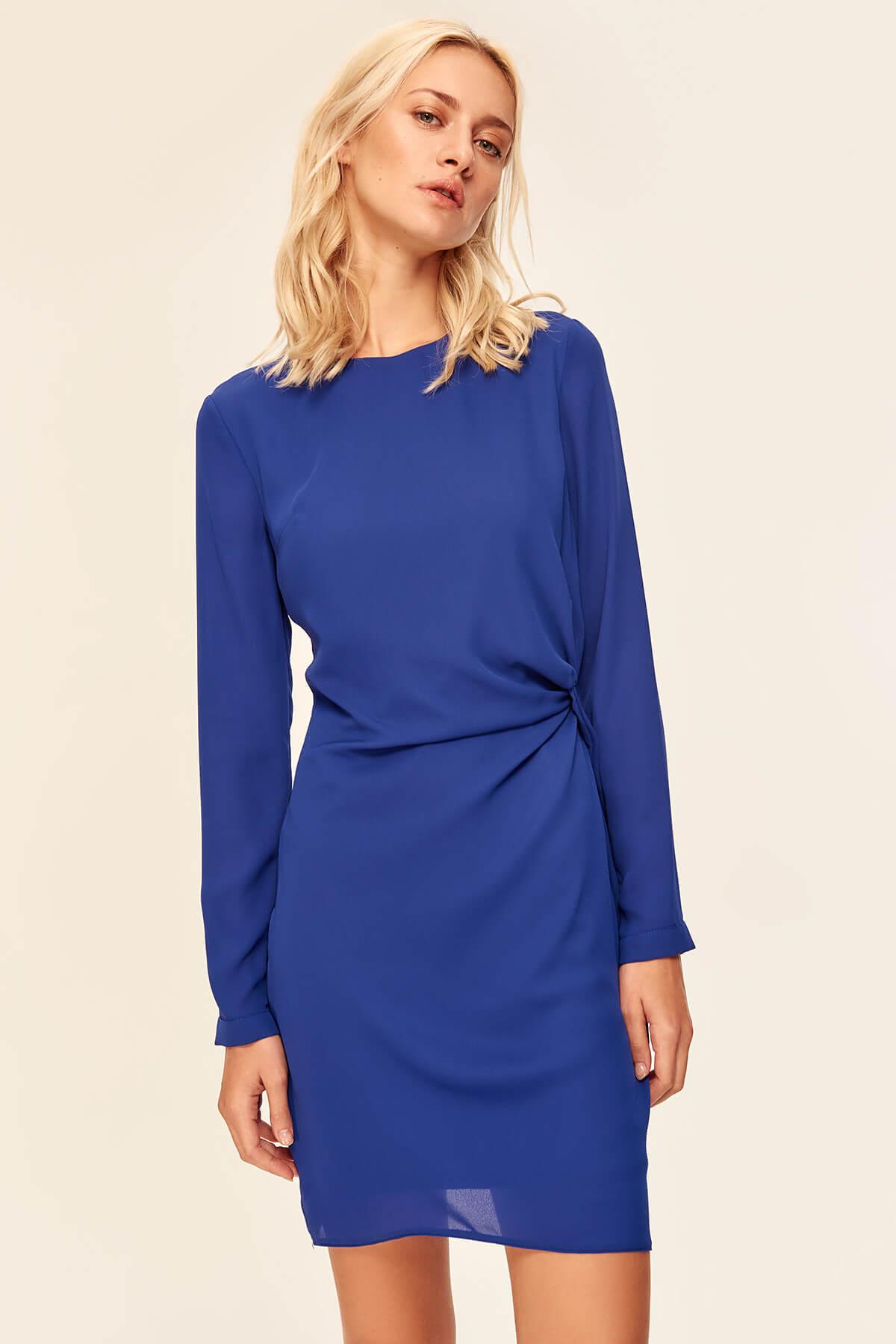 Trendyol TOFAW19BB0419 ruffles Blue Dress