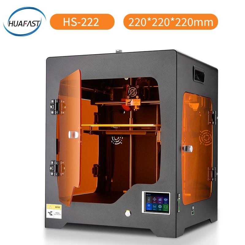 HUAFAST imprimante 3D nouvelle technologie Fdm mise à niveau Machine d'impression couleur bricolage Reprap Compatible Marlin firmware rampes haute résolution