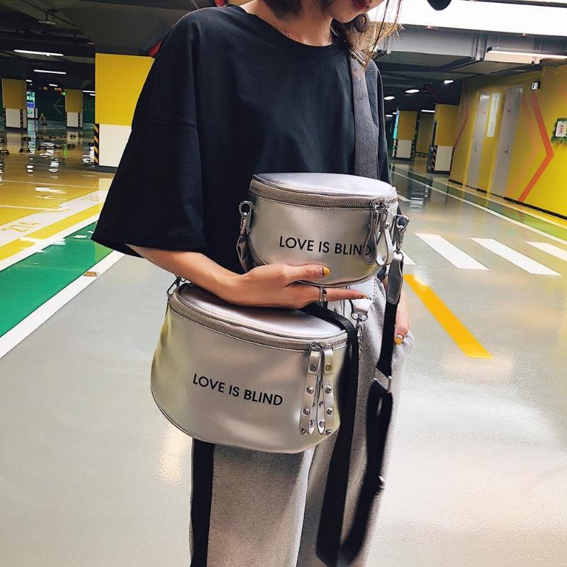 Women PU Leather Soft Cross Handbags Letter Pattern Zipper Shoulder Bag For Women Fashion Casual Messenger Bags Mochila Feminina