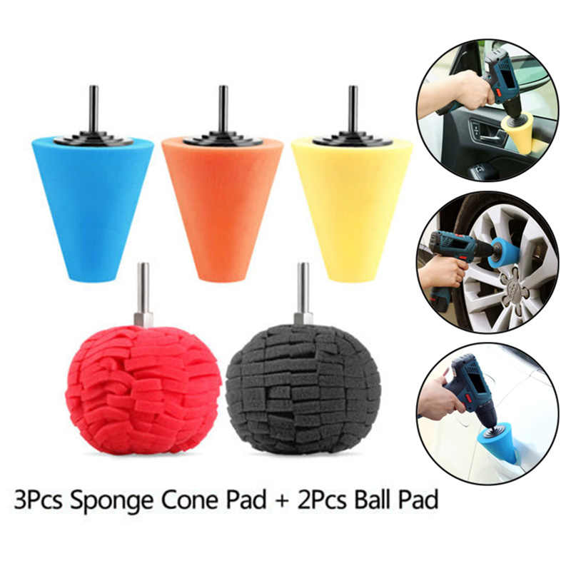 Burnishing Foam Sponge Polishing Cone Shaped Buffing Pad Car Wheel Hub Tool