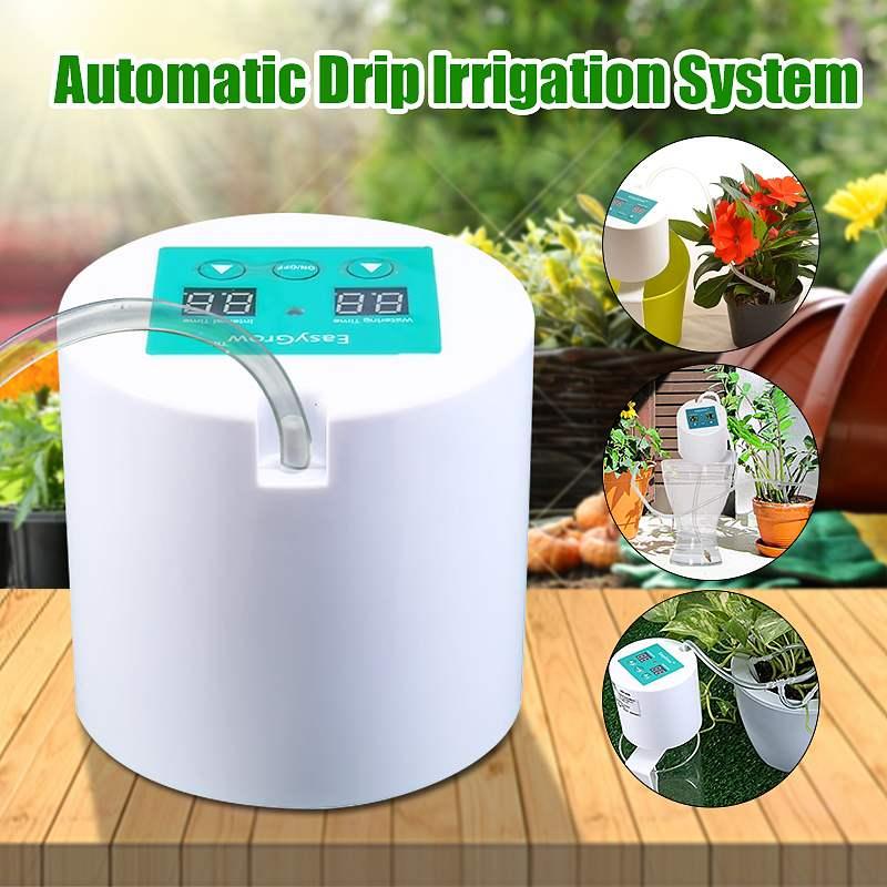Dispositif D'arrosage automatique Dispositif D'arrosage Irrigation Goutte À Goutte Outil Pompe À Eau Minuterie système pour des Plantes succulentes