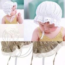 Новая кружевная шапка принцессы для маленьких девочек Летняя шляпка шапочка для новорожденных реквизит для фотосъемки вечерние шапки