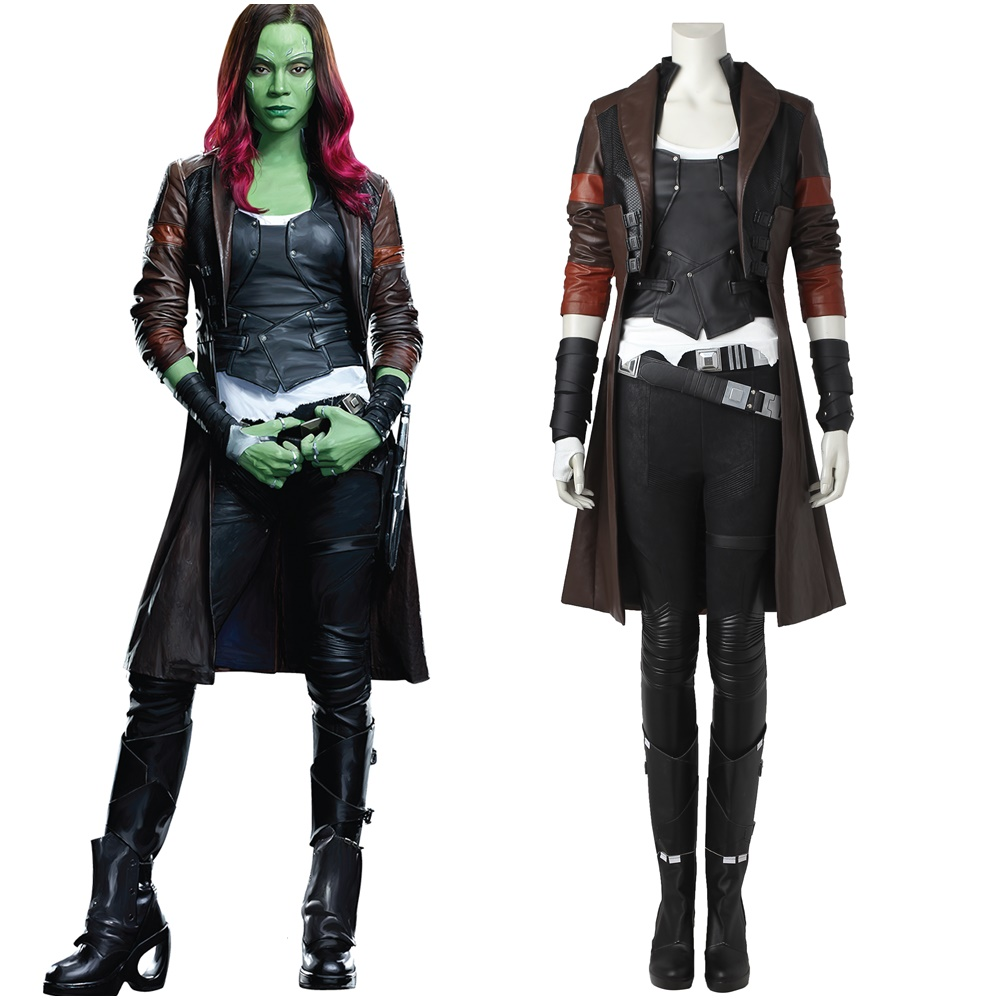 Guardians of the Galaxy Vol. 2 Gamora Cosplay Costume Handmade