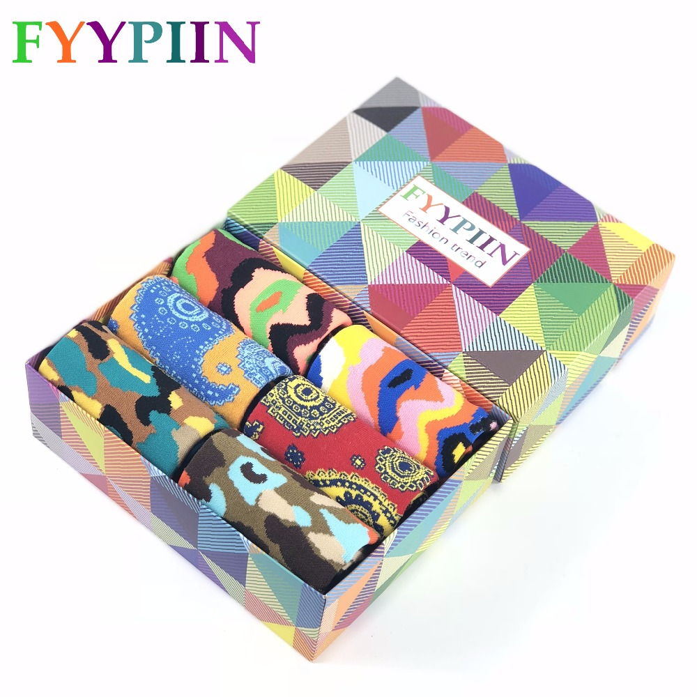 Funny Socks Nylon New Arrival Top Fashion Sokken 2019 6 Pairs/lot Mens Gift Box Pop Color High-quality Holiday Combed Cotton Underwear & Sleepwears