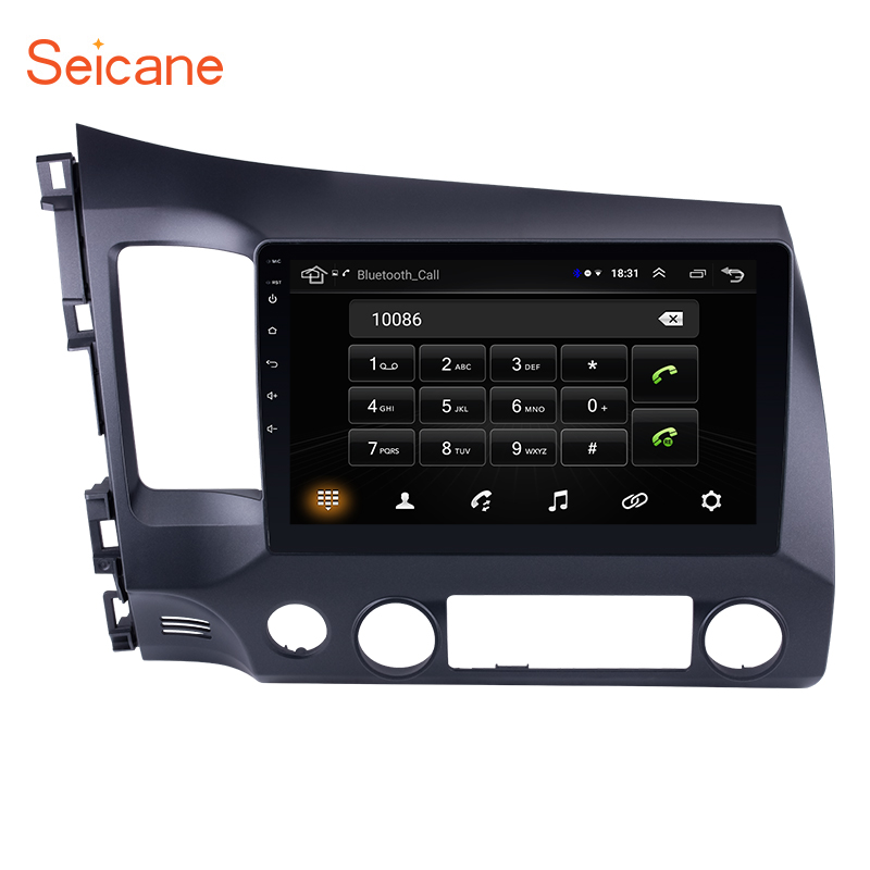 Seicane GPS Multimedia-Player Car-Radio Tochscreen 2din Android Honda Civic 0 for Quad-Core