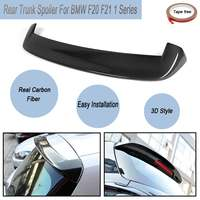 For BMW F20 F21 1 Series Full Carbon Fibre M Performance 3D Rear Trunk Car Lip Roof Top Spoiler Wings With Tape