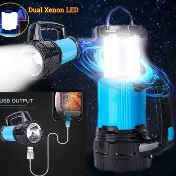 Solar Power Lamp Flashlight USB Port Camping Tent Light Outdoor Portable Hanging Lamp LED Lantern Hiking Emergencies Light 1