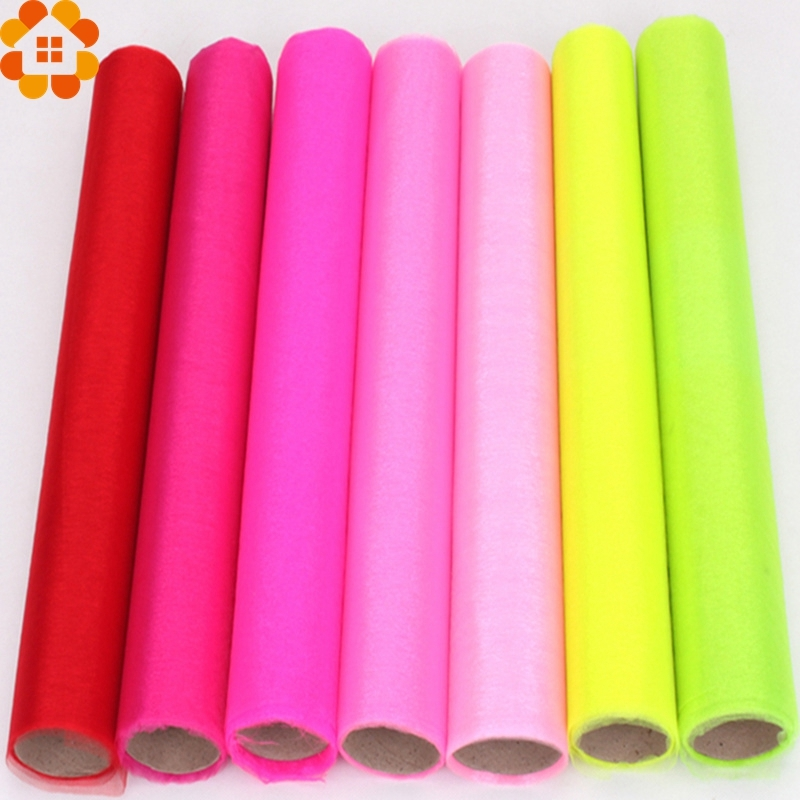 10 20 30Meters lot Sheer Crystal Organza Tulle Roll Fabric For Wedding Birthday Baby Shower Party DIY Decoration Width 75CM in Party DIY Decorations from Home Garden