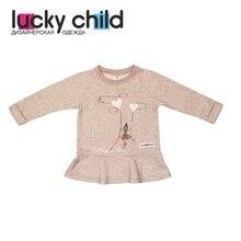 Платья-туника Lucky Child для девочек, арт. 54-63fb (Любимая девочка) [сделано в России, доставка от 2-х дней]