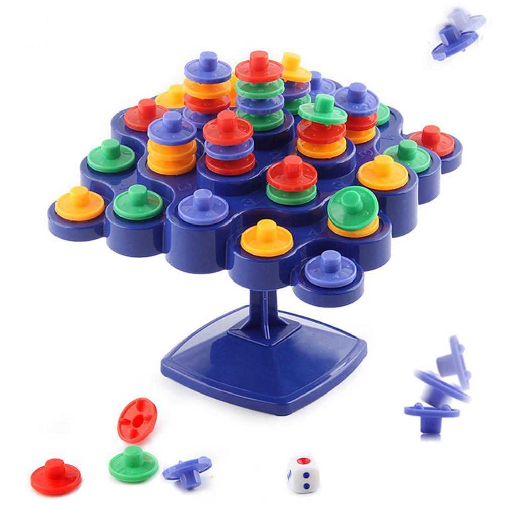 Tablero de apilamiento de mesa giratoria de equilibrio para la actividad de padres e hijos que impulsa a los niños IQ juguetes para niños juegos de fiesta de regalo Juego de cartas de póquer de plástico resistente al agua de Texas Holdem