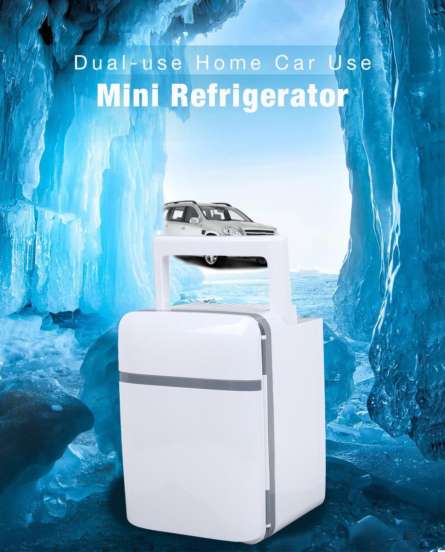 Mini Refrigerator Home Car Use 10L 28dB Semiconductor Systerm Eco friendly Long Life Dual use Cooler Warmer 12V 220V EU Plug