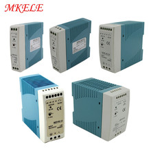 MDR Series AC To DC Industrial Din Rail Power Supply 12/24V 10W 20W 40W 60W 100W