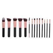 14pcs/set Pro Makeup Brushes Foundation Eye Shadow Blush Lip Brush Facial Beauty Tool Kit For Professional Or Daily Use new 5pcs fashion toothbrush makeup brushes set kit professional beauty shaped oval cream foundation lip beauty tool